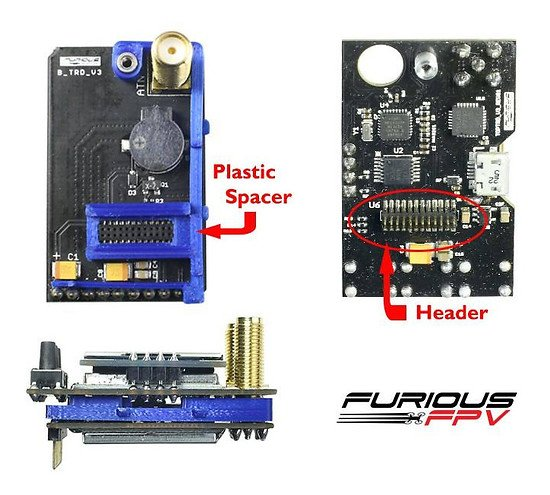 Spacer für Furious FPV True D V3 Diversity Receiver System