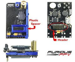 Spacer für Furious FPV True D V3 Diversity Receiver System