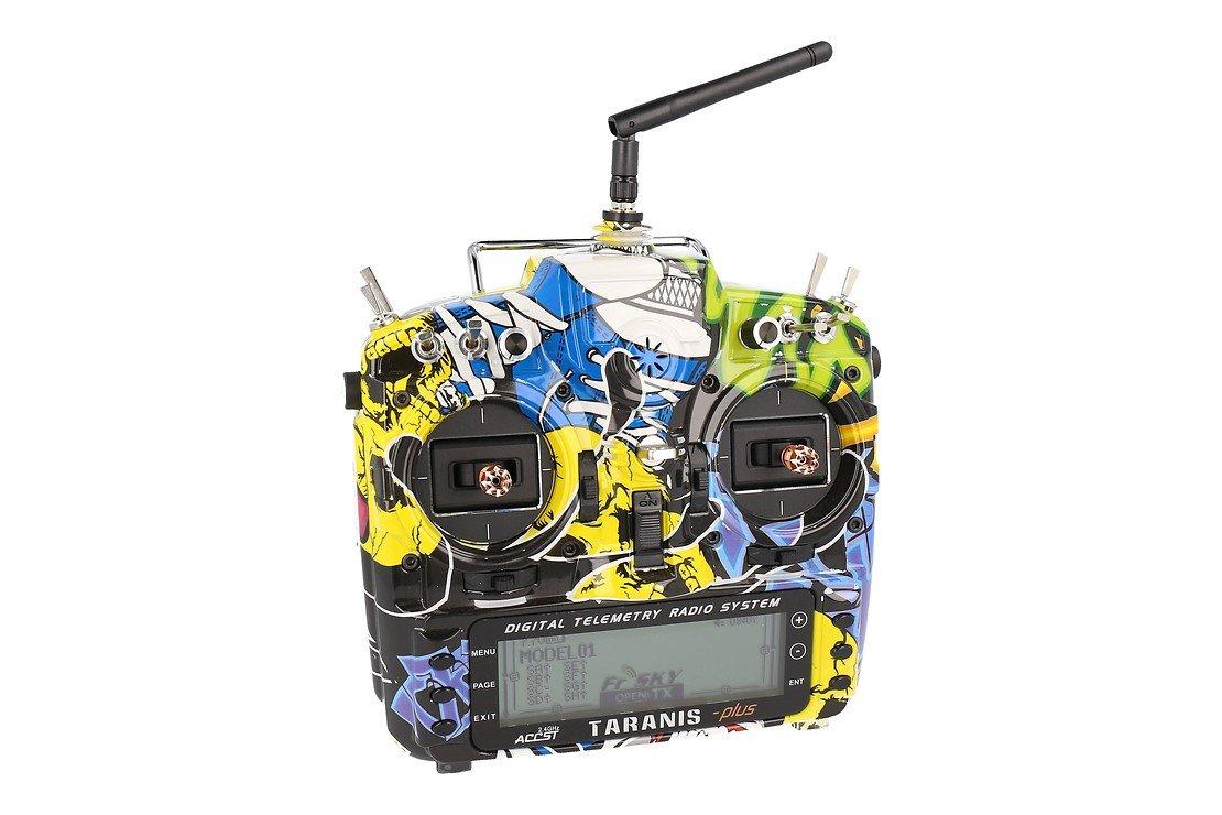 FrSky Taranis X9D Plus SPECIAL EDITION mit M9 Hall Sensor Gimbal + Rock Monster Hülle + Soft Case - Pic 1