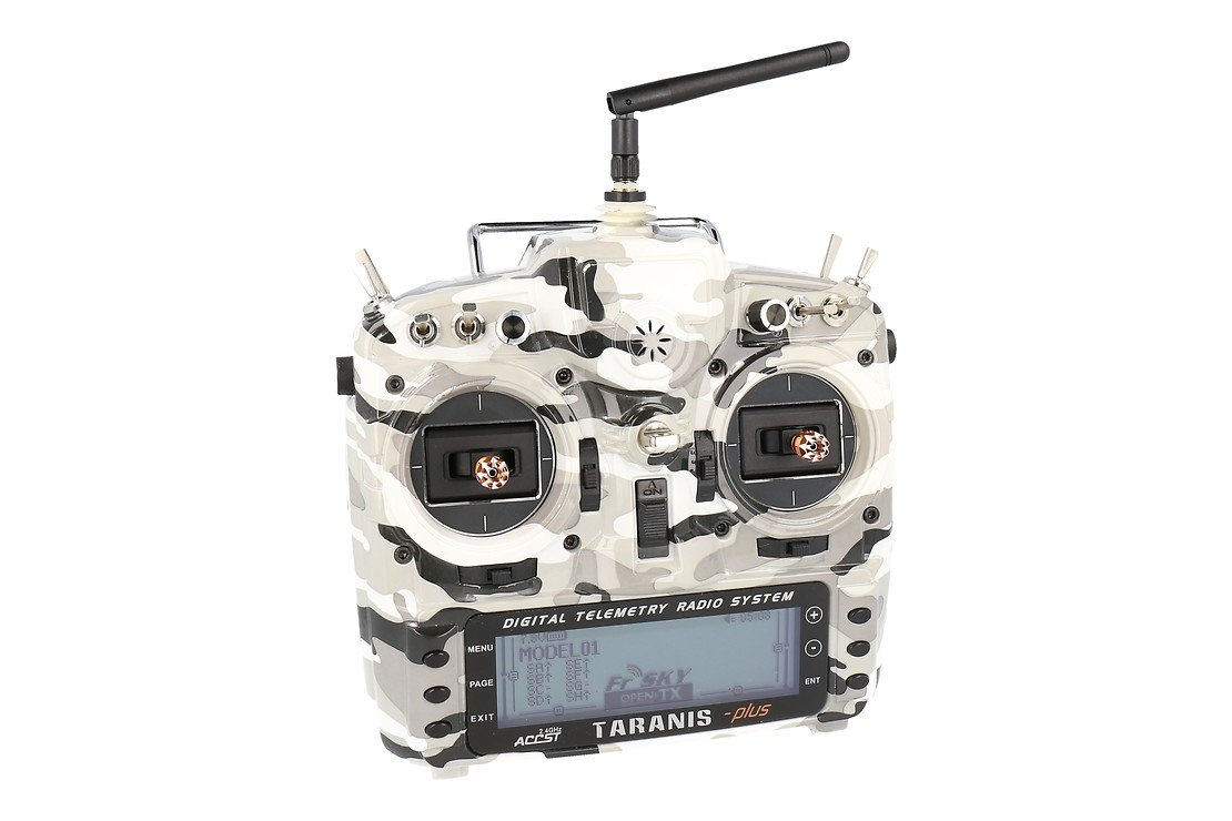 FrSky Taranis X9D Plus SPECIAL EDITION mit M9 Hall Sensor Gimbal + Camouflage + Soft Case - Pic 1