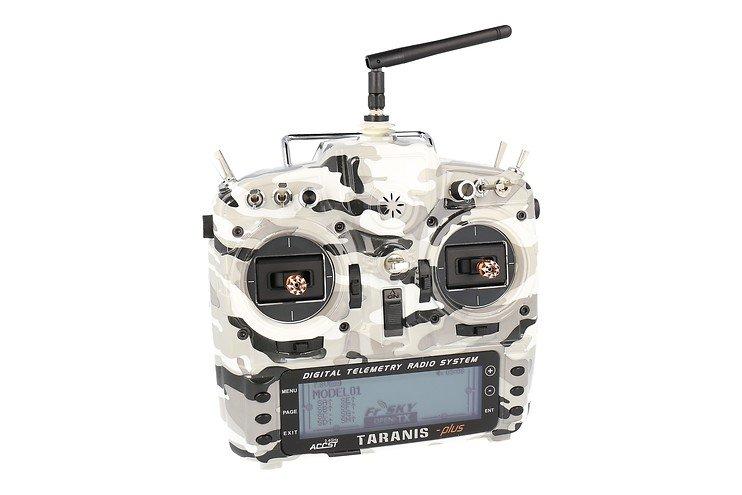 FrSky Taranis X9D Plus SPECIAL EDITION mit M9 Hall Sensor Gimbal + Camouflage + Soft Case