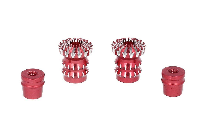 FrSky CNC Alu M3 Gimbal Stick End Lotus Rot - Pic 1