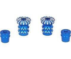 FrSky CNC Alu M3 Gimbal Stick End Lotus Blau