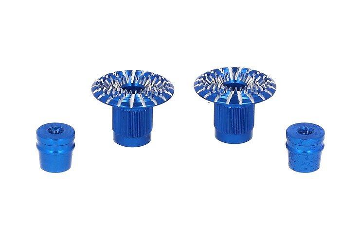 FrSky CNC Alu M4 Gimbal Stick End Umbrella Blau