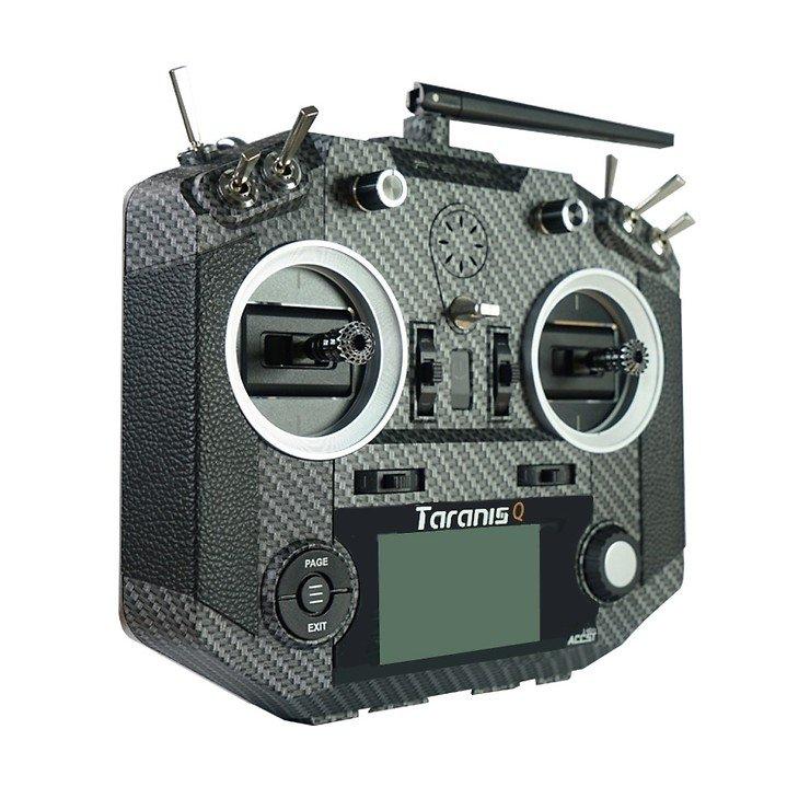 FrSky Taranis Q X7S Fernsteuerung Mode2 Carbon und Soft Bag - Pic 3