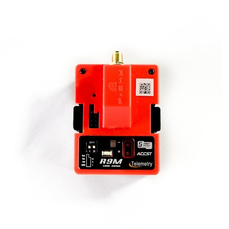 FrSky R9M Longrange Sende Modul in Rot mit Antenne - Pic 1