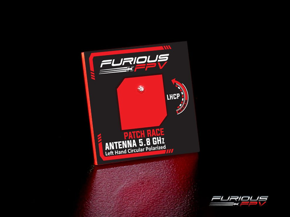 Furious FPV Antenne Feather Patch Race 5.8GHz LHCP SMA - Pic 1