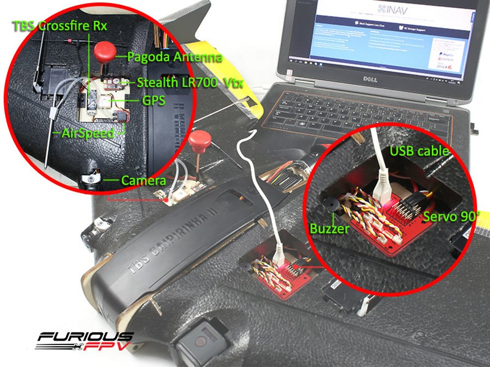 Furious FPV F-35 Lightning Flight controller + OSD + Current Sensor - Pic 3