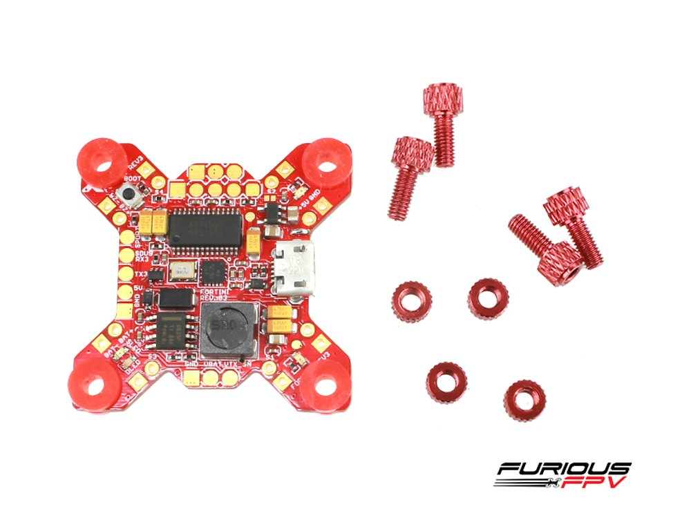 Furious FPV FORTINI F4 32Khz Flight Controller mit OSD und Bluetooth REV 3 - Pic 2