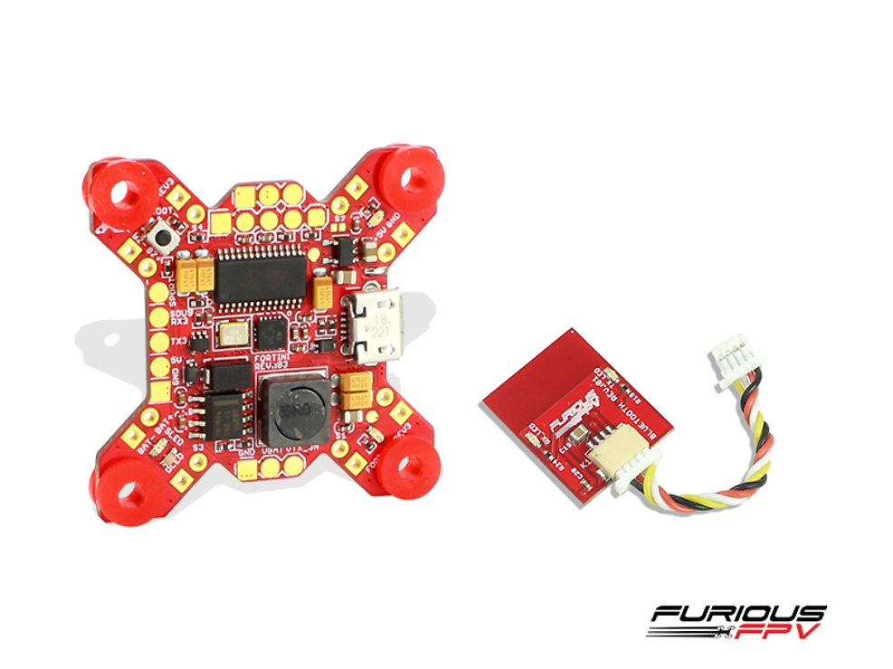 Furious FPV FORTINI F4 32Khz Flight Controller mit OSD und Bluetooth REV 3 - Pic 1