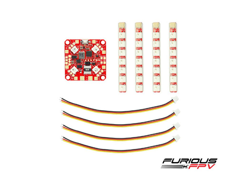Furious FPV Lightning PDB mit LED Steuerung und 4er LED Set - Pic 1