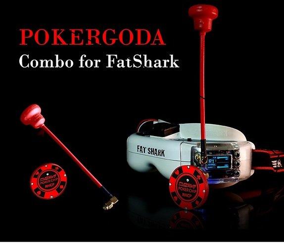 Furious FPV POKERGODA Kombo für Videobrillen RHCP