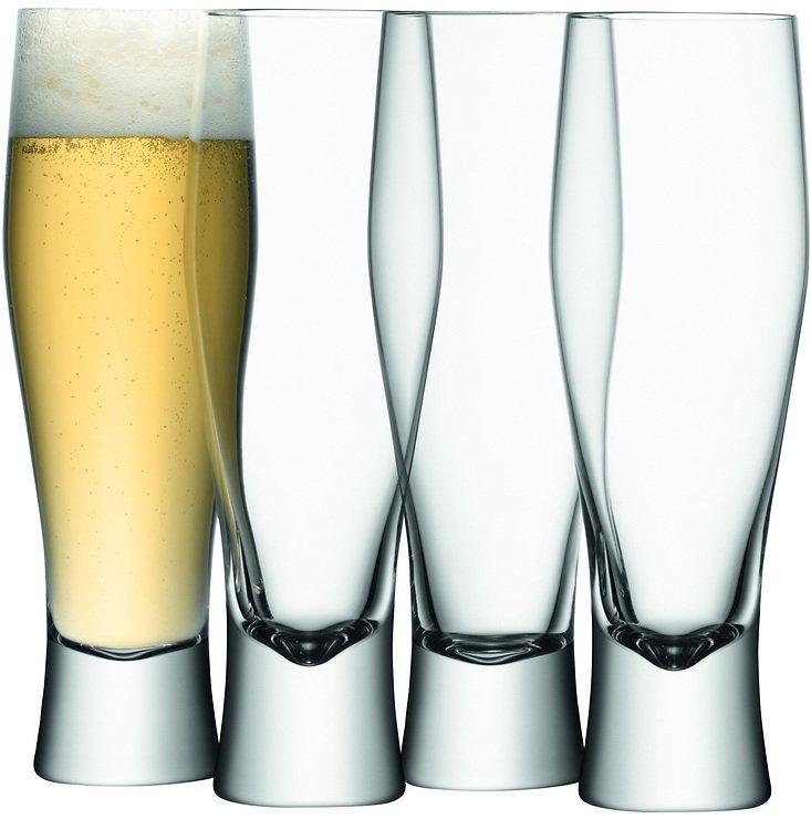 LSA Bierglas Bar 4er Set klar 400ml - Pic 1
