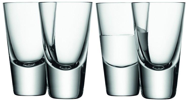 LSA Wodkaglas Bar 4er Set klar 100ml