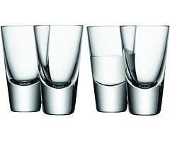 LSA Wodkaglas Bar 4er Set klar 100ml