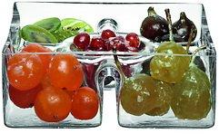 LSA Servierschale Serve Quadrat Glas klar 23cm