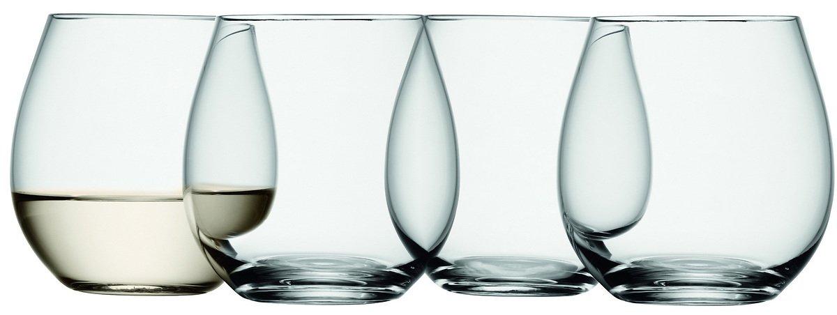 LSA Weinglas Wine ohne Stiel 370ml klar 4er Set - Pic 1