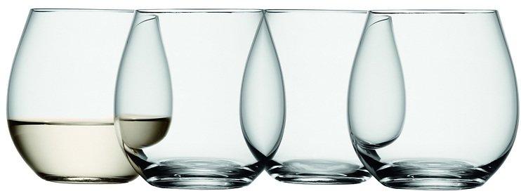 LSA Weinglas Wine ohne Stiel 370ml klar 4er Set