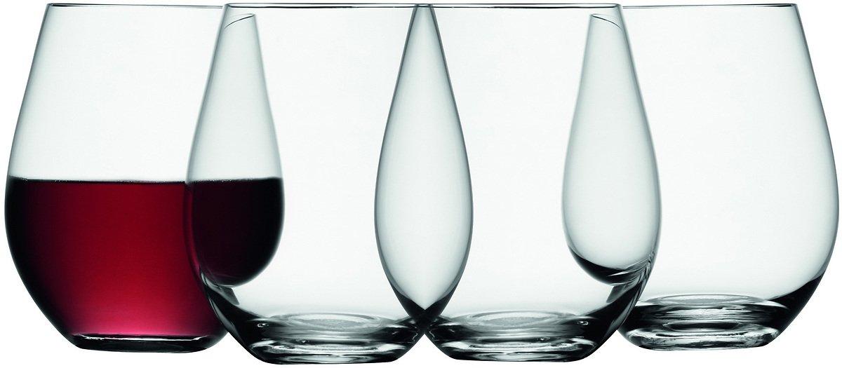 LSA Weinglas Wine ohne Stiel 530ml klar 4er Set - Pic 1