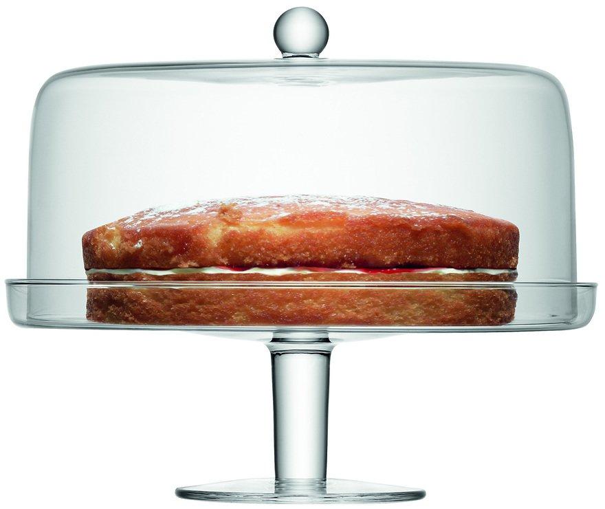 LSA Kuchenplatte Klara mit Haube 33cm klar - Pic 1