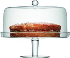 LSA Kuchenplatte Klara mit Haube 33cm klar