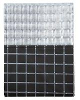 Galzone Duschvorhang Polyester 2 x 1,5m Karomuster schwarz