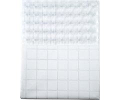 Galzone Duschvorhang Karomuster 2 x 1,5 m Polyester weiß