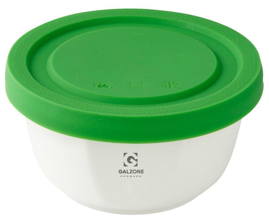 Galzone Vorratsdose aus Porzellan mit Silikondeckel grün 12cm - Pic 1