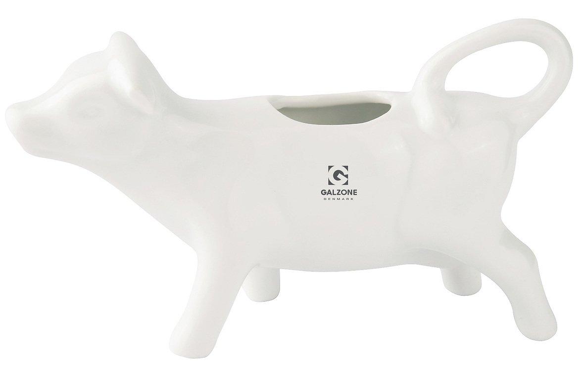 Galzone Sahnekännchen Porzellan weiß Kuh - Pic 1