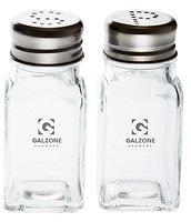 Galzone Salzstreuer/Pfefferstreuer Glas/Edelstahl