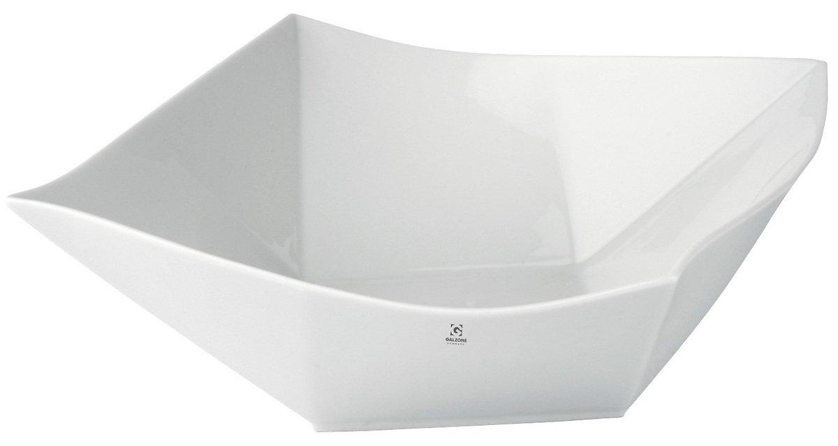 Galzone Servierschale eckig 23 cm Porzellan weiß - Pic 1