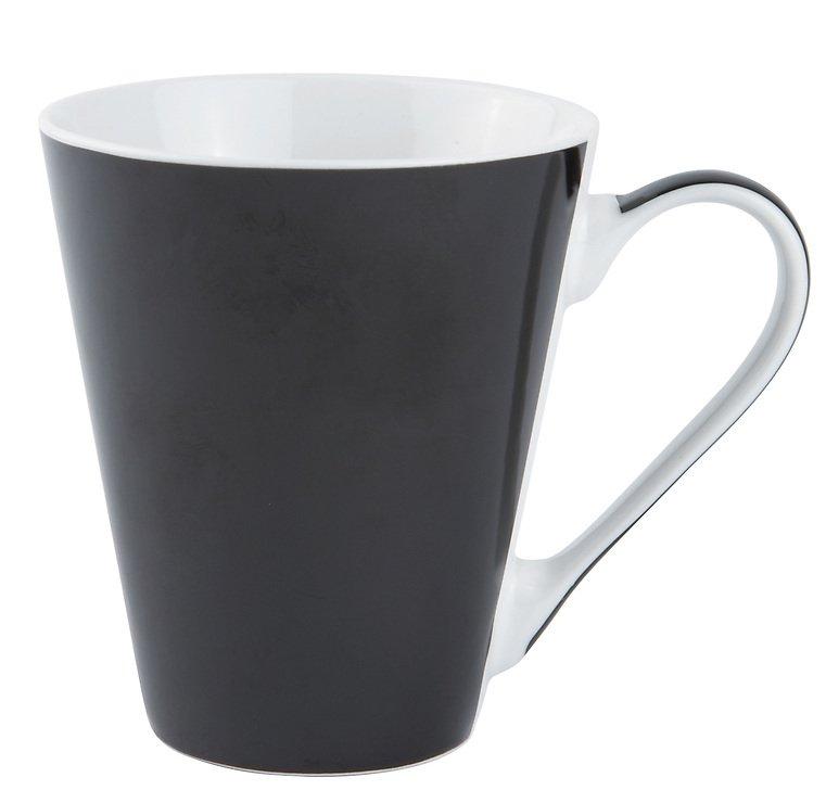 Galzone Kaffeebecher Porzellan schwarz 300 ml - Pic 1