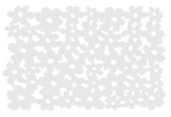 Galzone Tischset Blume weiß 28,5 x 44cm