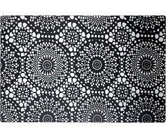 Galzone Tischset Muster schwarz/transparent 28,5 x 44cm