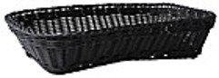 Galzone Korb geflochten Kunststoff schwarz 30cm