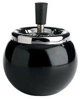 Galzone Kugel Aschenbecher Metall draußen schwarz