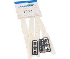 Gemfan 5030 5x3 ABS Propeller - Weiß (2xCW, 2xCCW)