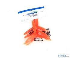 Gemfan 5045 5x4.5 ABS 3-Blatt-Propeller - Orange (2xCW, 2xCCW)