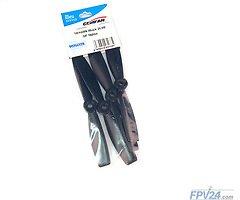 Gemfan 5046 5x4.6 GFN Glass-Fiber-Nylon Bullnose Propeller - Schwarz (2xCW, 2xCCW)