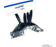 Gemfan 6040 6x4 ABS 3-Blatt-Propeller - Schwarz (2xCW, 2xCCW)