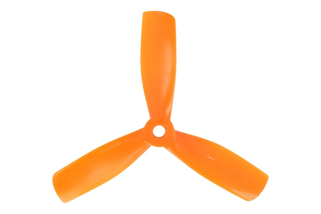 Gemfan 4045 4x4,5 PC 3-Blatt-Propeller Bullnose - Orange (2xCW, 2xCCW) - Pic 1