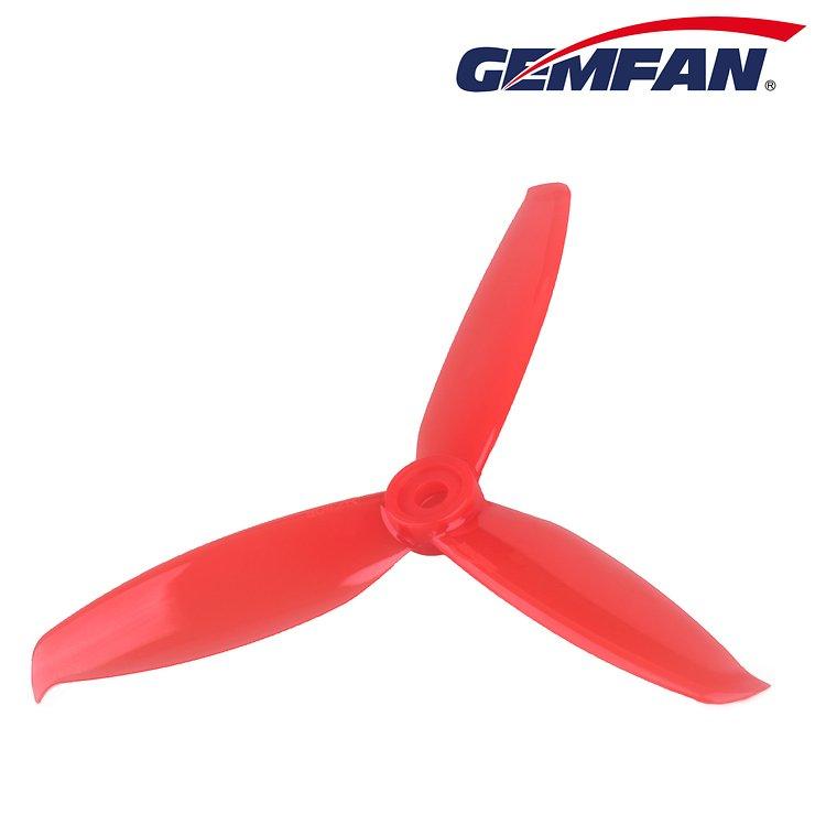 Gemfan 5042 5x4,2 WinDancer 3-Blatt-Propeller - Rot (2xCW, 2xCCW) - Pic 2