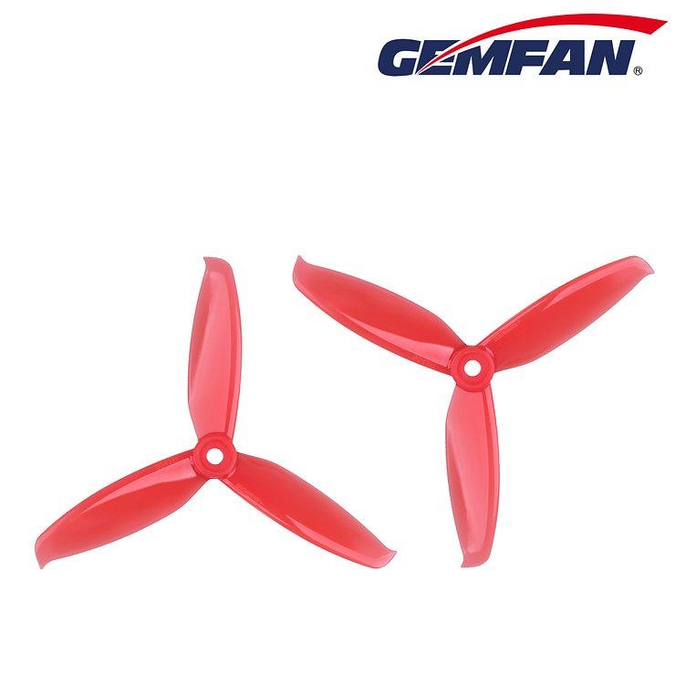 Gemfan 5042 5x4,2 WinDancer 3-Blatt-Propeller - Rot (2xCW, 2xCCW) - Pic 3