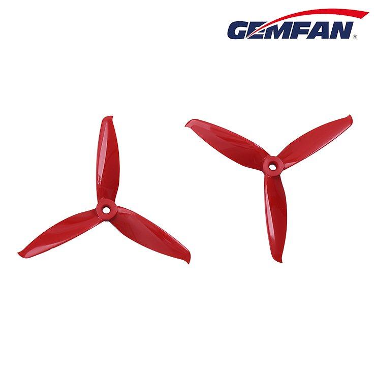 Gemfan 5152 5,1x5,2 Flash 3-Blatt-Propeller - Rot (2xCW, 2xCCW) - Pic 3