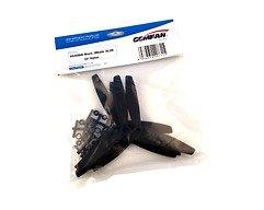 Gemfan 6040 6x4 Glasfaser Nylon 3-Blatt-Propeller - Schwarz (2xCW, 2xCCW)