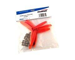 Gemfan 6040 6x4 Glasfaser Nylon 3-Blatt-Propeller - Orange (2xCW, 2xCCW)