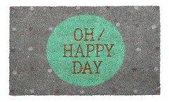 Gift Company Fußmatte Kokos Oh happy day grau 45 x 75cm