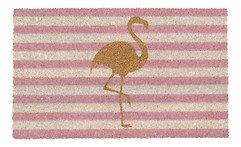 Gift Company Fußmatte Kokos Glitzerflamingo 45 x 75 cm rosa