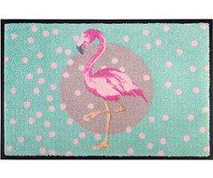 Gift Company Fußmatte waschbar Flamingo 50 x 75 cm türkis rosa