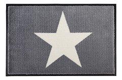 Gift Company Fußmatte waschbar Star 50 x 75 cm grau weiß